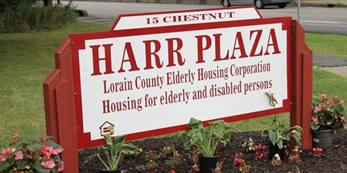 Edward C. Harr Plaza sign