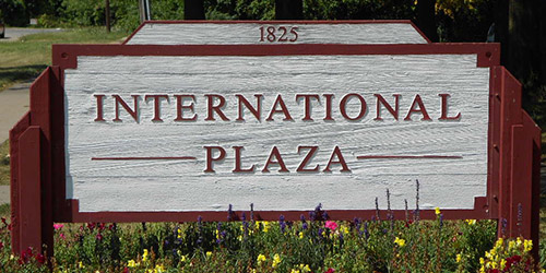 International Plaza sign